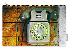 Old Dial Phone Carry-all Pouch by Fabrizio Troiani