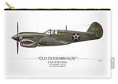 Old Exterminator P-40 Warhawk - White Background Carry-all Pouch