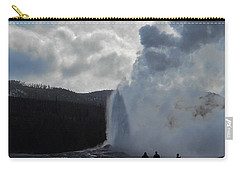 Carry-all Pouch featuring the photograph Old Faithful Morning by Michele Myers