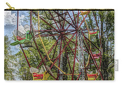 Old Fashioned Ferris Wheel Carry-all Pouch by The Art of Alice Terrill