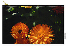 Old-fashioned Marigolds Carry-all Pouch by Martin Howard