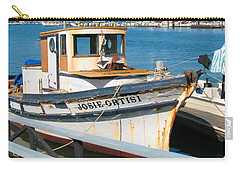 Old Fishing Boat In Sausalito Carry-all Pouch by Connie Fox