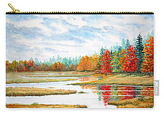 Carry-all Pouch featuring the painting Old Forge Autumn by Roger Rockefeller