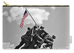 Old Glory At Iwo Jima Carry-all Pouch by Jean Goodwin Brooks