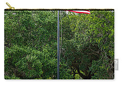 Carry-all Pouch featuring the photograph Old Glory High And Proud by Sennie Pierson