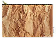 Old Grunge Creased Paper Texture. Retro Vintage Background Carry-all Pouch