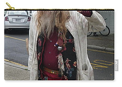 Carry-all Pouch featuring the photograph Old Hippie In Woodstock Ny  by Anna Ruzsan