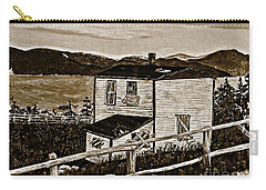Old House In Sepia Carry-all Pouch