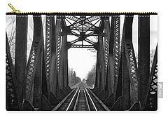 Old Huron River Rxr Bridge Black And White  Carry-all Pouch