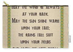Old Irish Blessing Carry-all Pouch