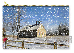 Carry-all Pouch featuring the photograph Old Kansas Schoolhouse by Liane Wright