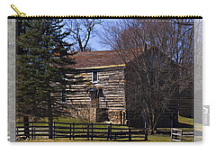 Old Log Home Carry-all Pouch by Walter Herrit