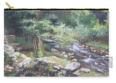 Carry-all Pouch featuring the painting Old Mill Steam II by Lori Brackett