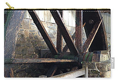 Carry-all Pouch featuring the photograph Old Mill Water Wheel by Jeannie Rhode