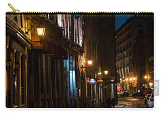Old Montreal At Night Carry-all Pouch by Cheryl Baxter