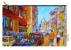 Carry-all Pouch featuring the painting Old Montreal by Carole Spandau