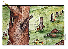 Old Oak Tree With Birds' Nest Carry-all Pouch