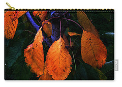 Old Orange Leaves Carry-all Pouch