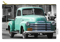 Old Pickup Truck Photo Teal Chevrolet Carry-all Pouch