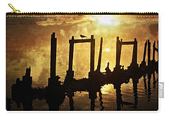 Carry-all Pouch featuring the photograph Old Pier At Sunset by Marty Koch