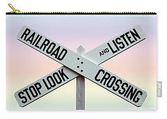 Old Railroad Crossing Sign Carry-all Pouch