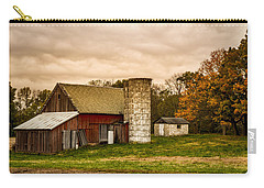 Old Red Barn And Silo Carry-all Pouch