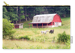 Old Red Barn West Of Brevard Nc Carry-all Pouch