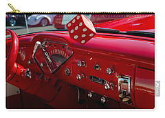 Carry-all Pouch featuring the photograph Old Red Chevy Dash by Tikvah's Hope