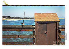Carry-all Pouch featuring the photograph Old Shed On Ventura Pier by Susan Wiedmann