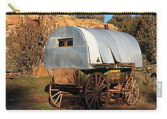 Old Sheepherder's Wagon Carry-all Pouch by Nadja Rider
