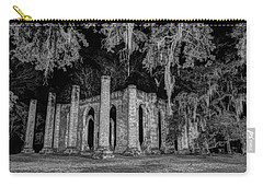 Old Sheldon Church At Night Carry-all Pouch