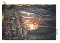 Old Ship Of The Sea Carry-all Pouch
