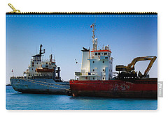 Carry-all Pouch featuring the photograph Old Ships by Kevin Desrosiers
