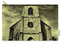 Old St. Mary's Church In Fredericksburg Texas In Sepia Carry-all Pouch