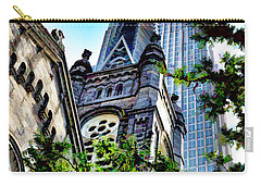 Carry-all Pouch featuring the photograph Old Stone Church - Cleveland Ohio - 1 by Mark Madere