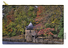 Carry-all Pouch featuring the photograph Old Stone Tower At The Edge Of The Forest by Jonny D