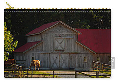 Carry-all Pouch featuring the photograph Old-style Horse Barn by Jordan Blackstone