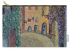 Carry-all Pouch featuring the painting Old Town In Piedmont by Felicia Tica