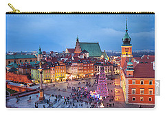 Old Town In Warsaw At Night Carry-all Pouch
