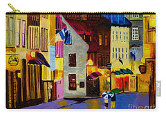 Carry-all Pouch featuring the painting Old Towne Quebec by Rodney Campbell