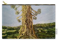 Carry-all Pouch featuring the painting Old Tree In Spring Light by Felicia Tica
