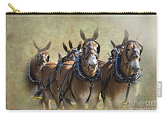 Old West Mule Train Carry-all Pouch
