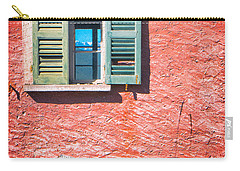 Carry-all Pouch featuring the photograph Old Window With Reflection by Silvia Ganora