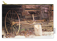 Carry-all Pouch featuring the photograph Ole Wheely by Faith Williams