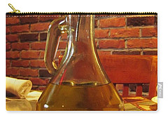 Carry-all Pouch featuring the photograph Olive Oil On Table by Cynthia Guinn