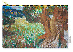 Carry-all Pouch featuring the painting Olive Trees by Teresa White