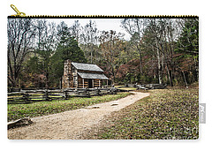 Carry-all Pouch featuring the photograph Oliver's Log Cabin by Debbie Green