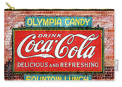 Carry-all Pouch featuring the painting Olympia Candy by Sandy MacGowan