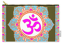 Carry-all Pouch featuring the photograph Om Mantra Ommantra 3 by Navin Joshi
