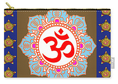 Carry-all Pouch featuring the photograph Om Mantra Ommantra Chant Yoga Meditation Tool by Navin Joshi